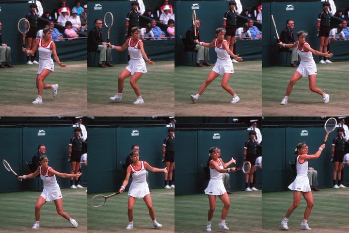 テニス界の初代クイーン、クリス・エバート。美しく正確無比なフォアは ...